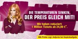 1 Mio. Flüge mit GERMANWINGS ab 24,99€ (nur bis Sonntag)