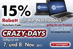 15% auf Pavilion Notebooks im HP Store