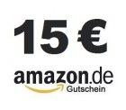 15,00 Euro Amazon Gutschein für 9,99 Euro + congstar Prepaid Karte bei eBay