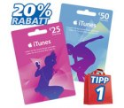 20% auf 25-/50-€-iTunes-Karten! bei real ab. 14.11