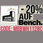 20% Rabatt auf Bench – Artikel bei Warehouse-one.de