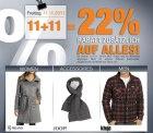 22% RABATT zusätzlich auf ALLES bei dress-for-less bis zum 13.11