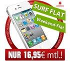 [Hammer] Apple iPhone 4 16GB weiß Handy im Vodafone Superflat Wochenende für 16,95€