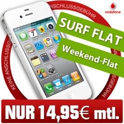 Apple iPhone 4 8GB Handy mit Vertrag mit Vodafone Superflat Internet für 14,95€ mtl. bei ebay