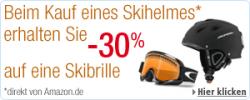 Beim Kauf eines Skihelmes direkt von Amazon.de 30% des Preises für eine Skibrille sparen