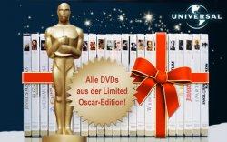 € 16,95 statt € 64,75 – DVD-Paket nach Wahl mit je fünf oscargekrönten DVDs von Universal Pictures