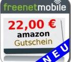 freenetMobile Sim-Karte mit 15€ Startguthaben & 22€ Amazon Gutschein für 4,95€