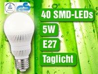 Gratis bei Pearl, LED-Lampe,5 Watt(statt 24,90 €), 40 SMD-LED´s