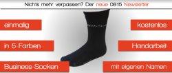 GRATIS: Business Socken mit eigenem Namen eingestickt