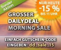 Heute bis 11:00 Uhr 15% bei Dailydeal auf alles