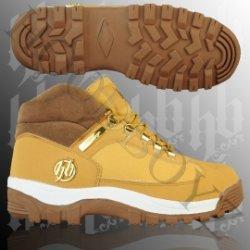 Hoodboyz – Gangsta Boot Mid High Wheat/brown/gold nur 29,90