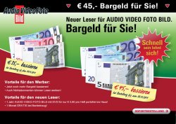 Jahresabo Audio Video Foto Bild mit DVD für nur 1,80 Euro-Dank Hoher Barprämie!!!