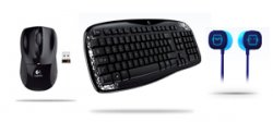 Logitech Wireless Maus M505 + Wireless Tastatur K250 + Ultimate Ears 100 für 26,99€ inkl. Versand