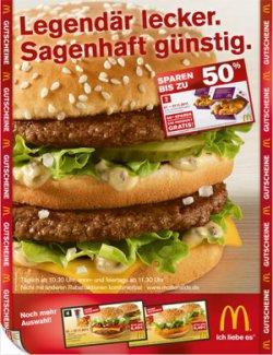 neue McDonalds Gutscheine (ab 07. – 27.11. gültig)