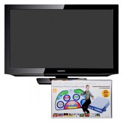 """Real-Onlineshop, 32"""" Orion-LCD-TV(80 cm), Full HD für 299 € dazu gratis Fitness-Spielekonsole im Wert von 29,95 €"""