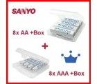 SPARSET: Sanyo Eneloop 8 x AA + 8 x AAA Akkus für 24,99 € versandkostenfrei bei Amazon