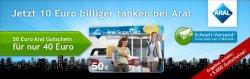 [TOP Quicker Deal wieder online]— 50€ Aral Tankkarte für 40€