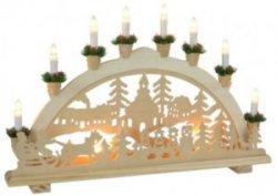 verschiedene weihnachtliche Fensterbilder, Lichtbögen, Schwibbögen bei eBay für 9,85 € inkl. Versand