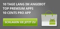 10 Android Apps für 10 Tage zu je 0,10 € im Android Market als Dankeschönaktion!