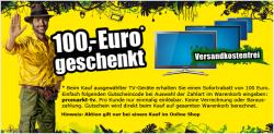 100€ Gutschein beim Kauf von TV-Geräten auf promarkt.de