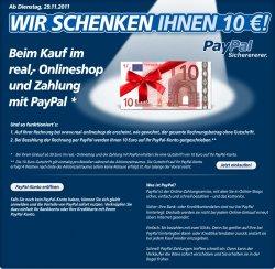 10€ + 5€ Rabatt bei Real-online
