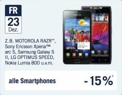 23. Türchen @The Phone House: 15 % auf alle Smartphones [Offline]