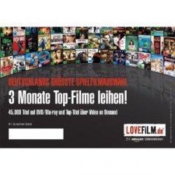 3 Monate Lovefilm nutzen für 9,99€ bei amazon (sonst 36€) für Neu- und Bestandskunden