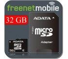 32 GB ADATA Micro SDHC Speicherkarte & SIM mit. 15 Euro Guthaben für nur 4,95 Euro