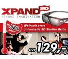 54,18 € statt 129,00 € für weltweit erste universelle 3D Shutter Brille – XpanD X103. Die universelle 3D Brille vom marktführenden Hersteller.