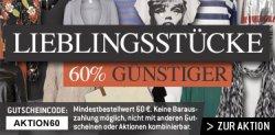 60% auf alle Artikel bei fashiongalerie.de (60€ Mindestbestelltwert)