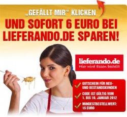 6€ Lieferando Gutschein geschenkt (MBW: 15€) auf der Computerbild Facebook-Fanpage