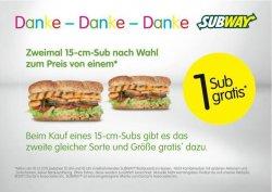 am 10.12.2011 ein 15-cm-Subs kaufen und zweites GRATIS dazu (nur Hessen)