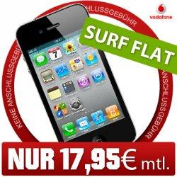 Apple iPhone 4 8GB mit Superflat Tarif mit Daten & Weekendflat 17,95€ bei ebay