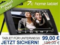 Archos 7c Home Tablet 8GB für 99€ + 3×10€ Gutscheine versandfrei bei dailydeal