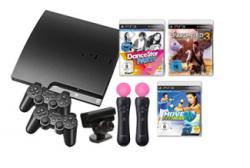 Bei ProMarkt als Fang des Tages: großes PS3-Paket (PS3 160GB, 2 Controller, Move-Pack mit zus. Move Controller, und 3 Spielen für 399,-