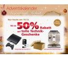 Bis zu 50% Rabatt auf tolle Technikgeschenke im 19. Türchen bei Neckermann.de