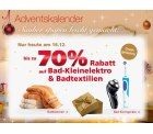Heute im Neckermann Adventskalender: 70% auf Bad-Kleinelektro und Badtextilien