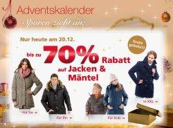 Bis zu 70% auf Winterjacken und -mäntel bei neckermann + Gratis Lieferung