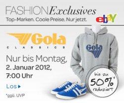 Fashion Exclusives Aktion bei eBay: Gola Kapuzen-Sweatshirts, Sneakers und Taschen für Sie&Ihn für die Hälfte!