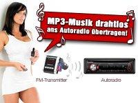 Gratis Stereo FM-Transmitter bei Pearl (57 € sparen),MP3 einfach im Autoradio abspielen