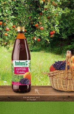 Hohes C – neue Sorte Apfel und Holunderbeere kostenlos für facebook Fans