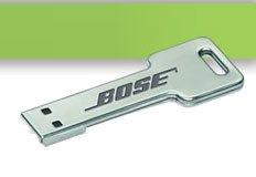 Kostenloser Schlüsselanhänger oder USB-Stick von Bose-direk.de