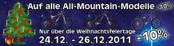 Nochmals 10% Weihnachtsrabatt auf Mountainbikes bei jehlebikes.de (NUR 2 TAGE)