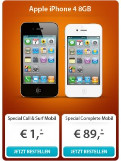 Sparhandy-Xmas-Special: Smartphones (iPhone 4, Galaxy S2, Nexus, Note etc.) für 1 € mit 4-fach-Flat von T-Mobile