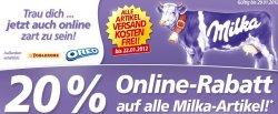 20% Online Rabatt auf Milka Artikel im real Onlineshop + versandkostenfreie Bestellung