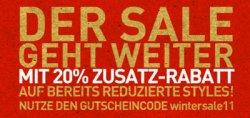 20% Rabatt (auch auf bereits reduzierte Ware) im PUMA online Shop