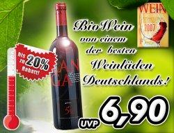 20% Rabatt auf echten BioWein von einem der besten Weinläden Deutschlands!