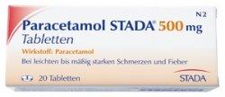 20er-Packung Paracetamol 500 mg für 69 Cent VSK-frei bei Apotal