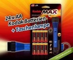 24 AA-Batterien von Kodak mit LED-Taschenlampe nur 8,99 Euro frei Haus bei Dailydeal!!!