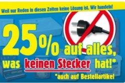 [Lokaler Deal] 25% auf alles ohne Stecker bei Praktiker am 20. und 21.01.